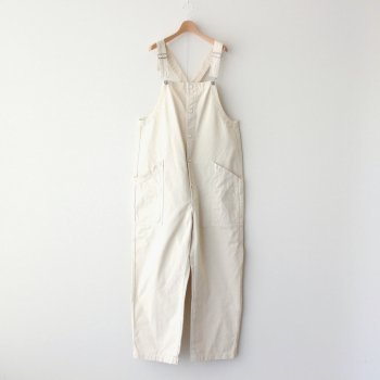 CHINO CLOTH OVERALLS #IVORY [A12008] _ HARVESTY | ハーベスティ