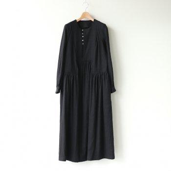 月明のPANEL DRESS #ブラック [TLF-121-op004-E] _ the last flower of the afternoon   ザラストフラワーオブジアフタヌーン