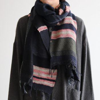 ROOTS SHAWL MIDDLE WOOL70% COTTON30% #B [21A-RSM002] _ tamaki niime | 玉木新雌