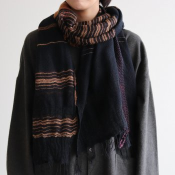 tamaki niime | 玉木新雌 - ROOTS SHAWL MIDDLE WOOL70% COTTON30% #F [21A-RSM006]