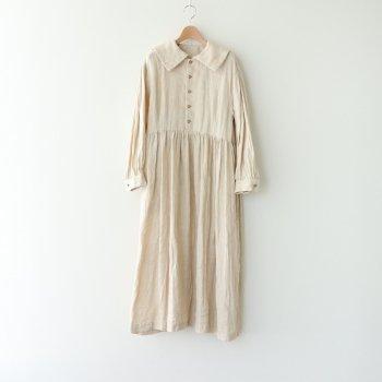 寧静(ねいせい)なるPURITAN COLLAR DRESS #エクリュ [TLF-121-op003-F] _ the last flower of the afternoon | ザラストフラワーオブジアフタヌーン