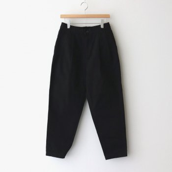 HARVESTY | ハーベスティ _ EASY EGG PANTS CHINO CLOTH GARMENT DYED #BLACK [A11913]