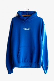 HOTEL BLUE EMBROIDERED LOGO CHAMPION HOODY