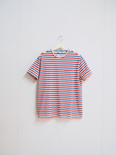 Corridor Blue Red Stripe T-Shirt