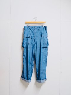 HAVERSACK Indigo Herringbone Wide Cargo Pants
