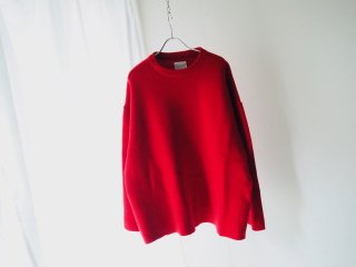S.F.C CREW NECK MILAN RIB Red