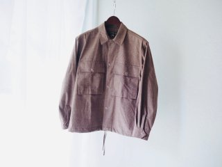 HAVERSACK Glen Check Open Collar Shirt Blouson
