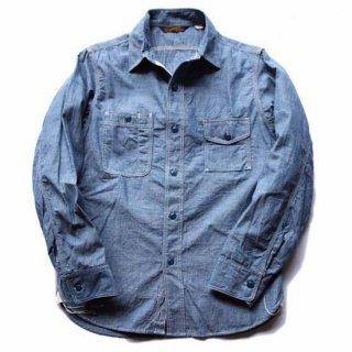 TOUGHNESS W-413Aブルーシャンブレイワークシャツ