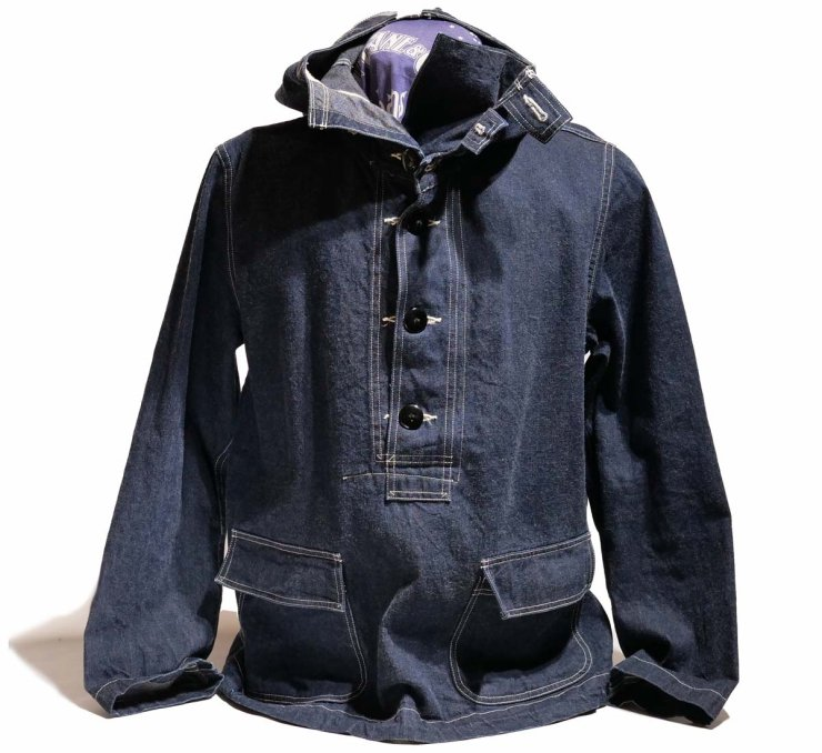 Buzz Rickson's HOODED PULL OVER JACKET(1940s U.S.NAVY DENIM PARKA)