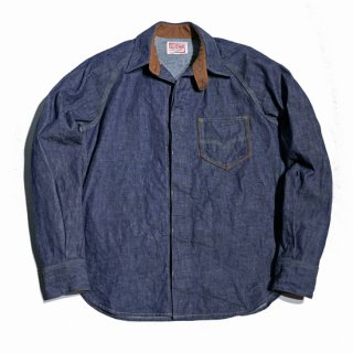 デラックスウエア・7640...40s デニムシャツ