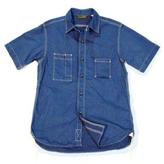 TOUGHNESS W-417_ss カラーツイル30'sスタイル・半袖サービスマンズシャツ
