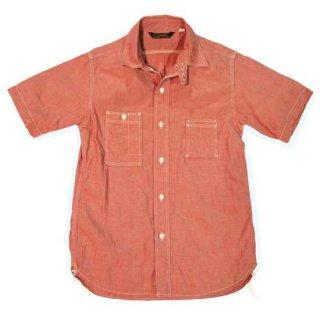 TOUGHNESS W-417CL_ss 赤杢シャンブレイ30'sスタイル・半袖サービスマンズシャツ