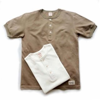 TOUGHKNIT W-3003 鹿の子ヘンリーネック半袖Tシャツ