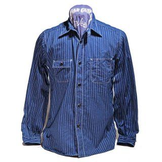 Fiction Romance (シュガーケーン)8.5oz WABASH STRIPE WORK SHIRT(SC25551-421A)