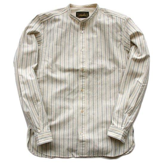 ORGUEIL OR-5016C バンドカラーシャツ (Stripe)
