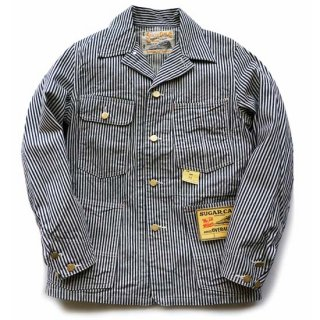 SUGAR CANE 11oz HICKORY STRIPE WORK COAT