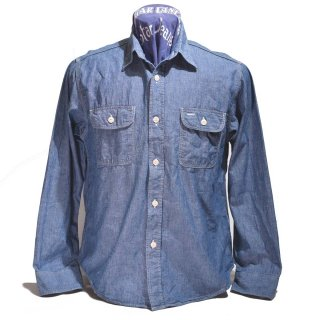 SUGAR CANE BLUE CHAMBRAY WORK SHIRT