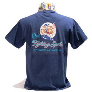 Buzz Rickson's MILITARY T-SHIRT(BR78289)62nd FIGHTER SQ.