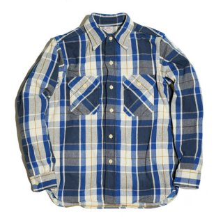 WAREHOUSE LOT3104 CHECK FLANNEL SHIRT ( C-1Blue )