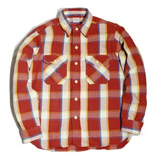 WAREHOUSE LOT3104 CHECK FLANNEL SHIRT ( D-2Red )