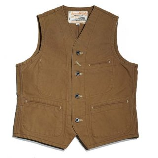 SUGAR CANE 13oz.BROWN DUCK WORK VEST(SC14375)