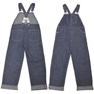 HEAD LIGHT(SUGAR CANE)9.5oz BLUE DENIM LOW BACK OVERALLS(HD41930-420)