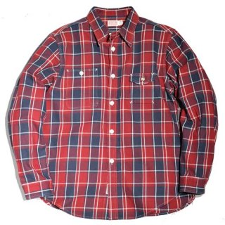 TROPHY CLOTHINGCOTTON TWILL CHECK MACHINE AGE SHIRT ( TR20AW-401)