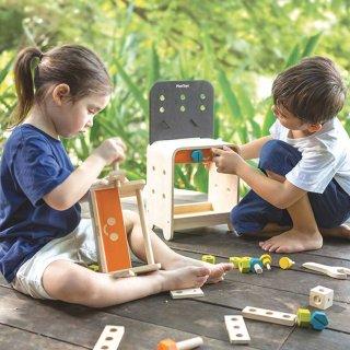 [3歳-]木のワークベンチ〈組み立てるおもちゃ〉PLANTOYS
