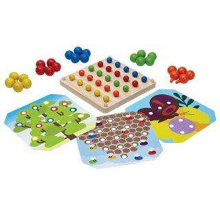 [2歳-]クリエイティブペグボード〈ペグさし・木のおもちゃ〉PLANTOYS