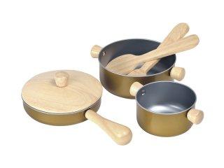 [3歳-]調理用具セット〈おままごと・ごっこ遊び〉PLANTOYS