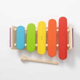 [1歳-]オーバルシロフォン〈楽器のおもちゃ〉PLANTOYS
