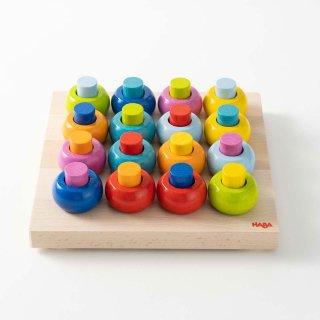[1歳半-]カラーリングのペグ遊び〈ペグさし・棒通し〉HABA