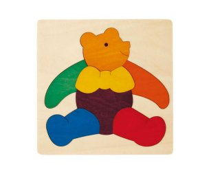 [2歳-]カラフルパズルの4点セット〈木製はめこみパズル〉George Luck