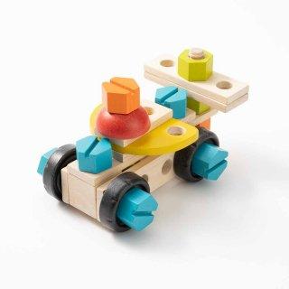 [2歳半-]コンストラクションセット40〈組み立てるおもちゃ〉PLANTOYS