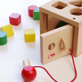 [1歳半-]キーボックス〈木製型はめパズル〉NIC