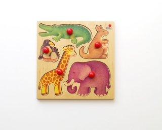 [2歳-]グライフパズル・動物〈木製はめこみ図形〉SELECTA