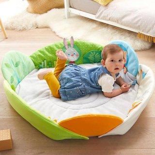 [0歳 3ヶ月-]プレイラグ・グラスランド〈赤ちゃんのプレイマット〉HABA
