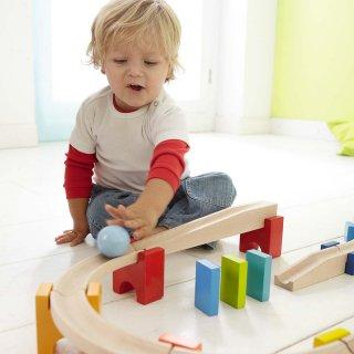 [1歳半-]ベビークーゲルバーン〈積み木・玉転がし〉HABA