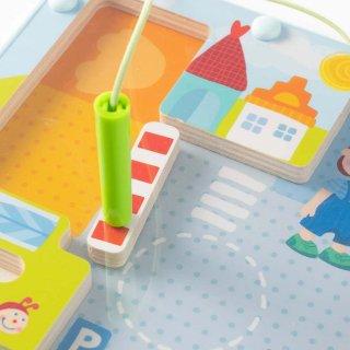 [2歳-]マグネットボード・まちかど〈磁石のおもちゃ〉HABA