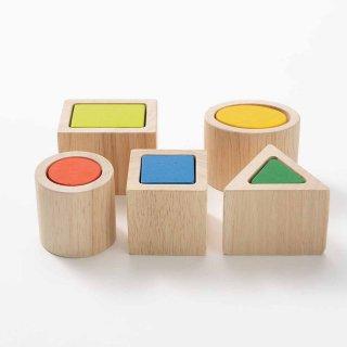 [2歳-]ジオマッチングブロック〈木製入れ子パズル 〉PLANTOYS
