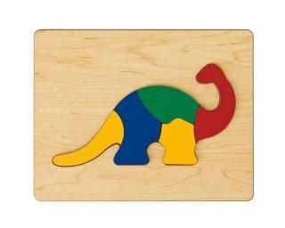 [2歳-]どうぶつパズル きょうりゅう〈木製はめこみパズル 5分割〉TAG
