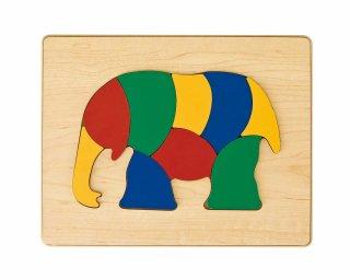 [2歳-]どうぶつパズル ぞう〈木製はめこみパズル 9分割〉TAG
