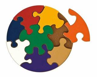 [3歳-]ジャイアントサークルパズル〈木製はめこみパズル〉TAG