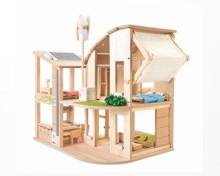 [3歳-]家具付きグリーンドールハウス PLANTOYS