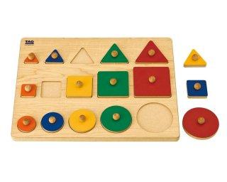 [2歳-]比べて理解する形のパズル TAG