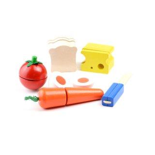 [3歳-]カッティング・モーニングセット〈ままごとキッチン〉PLANTOYS