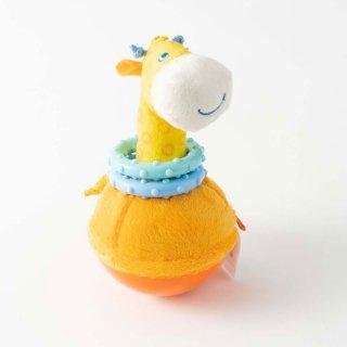 [0歳 6ヶ月-]おきあがり人形・キリン〈布のおもちゃ〉HABA