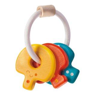 [0歳 3ヶ月-]キーラトル〈赤ちゃんのガラガラ〉PLANTOYS