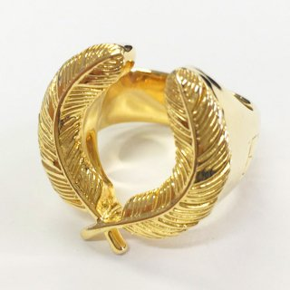 K18 FEATHER RING