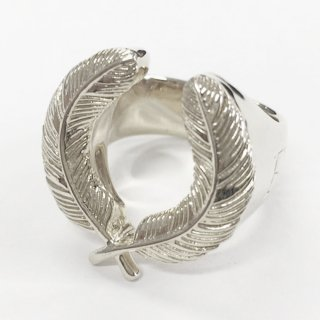 S925 FEATHER RING